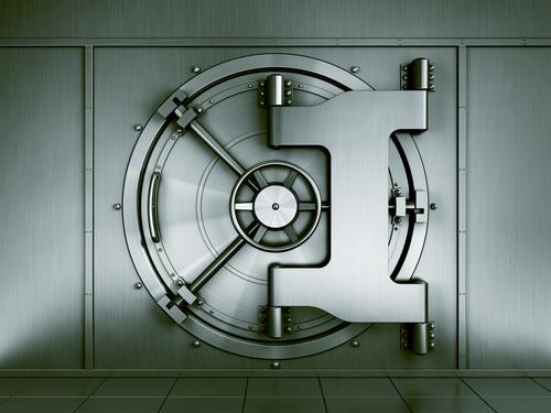 Bild på bankvalv som symboliserar ett långsiktigt sparande